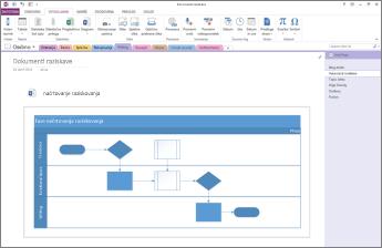 Pregled diagrama, vstavljenega na stran