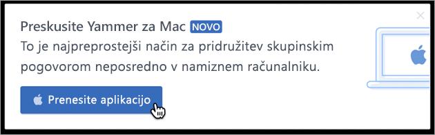 Pošiljanje sporočil v izdelku za Mac