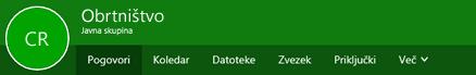 Skupine traku v Outlooku v spletu