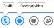 Posnetek zaslona gumbov zvoka in kamere