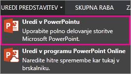 Ukaz »Uredi v PowerPointu«