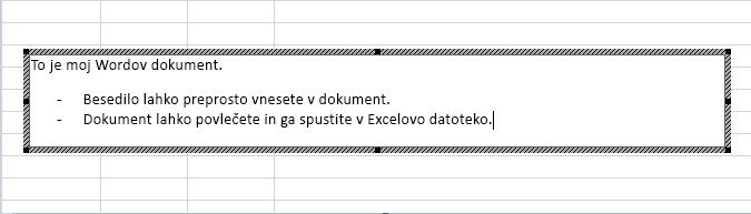 Ta vdelan predmet je Wordov dokument.