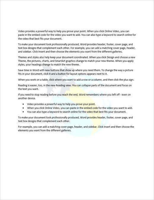 Primer dokumenta s sliko vodnega žiga
