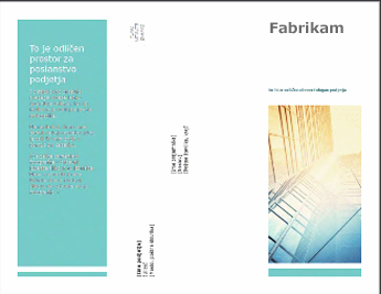 Predloga brošure v programu PowerPoint Online