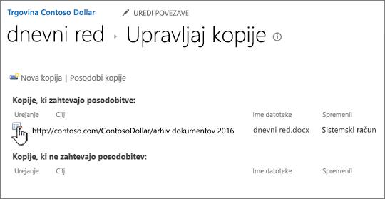 Kliknite Uredi v oknu za upravljanje datotek