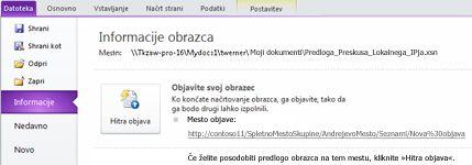 InfoPathovi obrazci s seznamom za SharePoint
