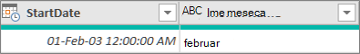 Adding a column to get the month name of a date