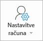 Gumb» nastavitve računa za Outlook «