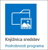 Ploščica za knjižnice sredstev