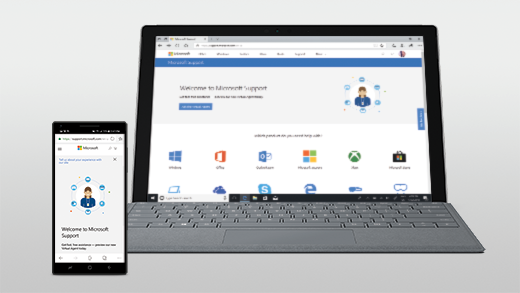 Web page open on Android and Surface Pro