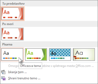 Izberite Officeovo temo