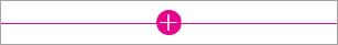 Znak »plus« za dodajanje spletnih gradnikov na stran