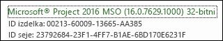 Številka delovne različice namiznega odjemalca za Microsoft Project Online