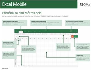 Vodnik za hitri začetek dela za Excel Mobile