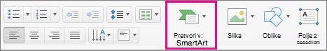 PowerPoint for Mac Convert to SmartArt
