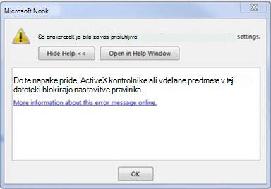 Napaka v Outlooku