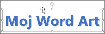 WordArt s kurzorjem v obliki štiriglave puščice