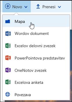 Nova mapa v knjižnici dokumentov