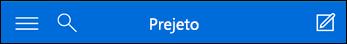 Krmarjenje na vrhu za mini aplikacijo Outlook Web App