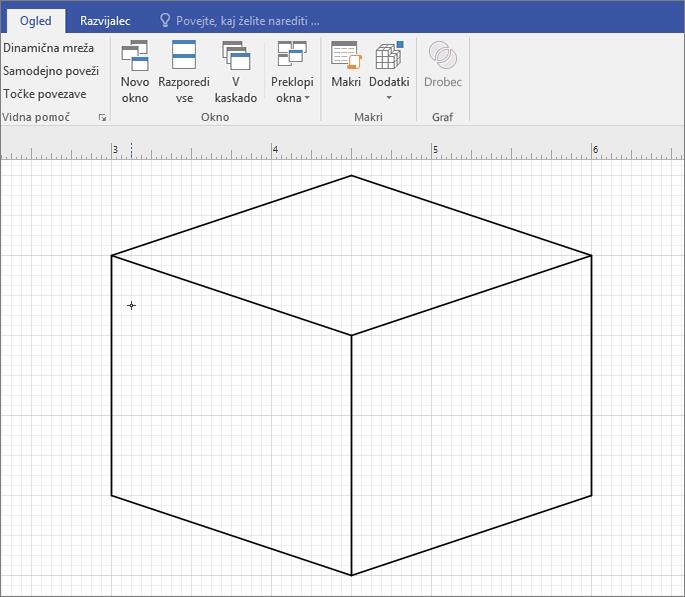 Narišite obliko ročno z orodjem za črto.