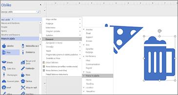 Diagram z dvema ikonama