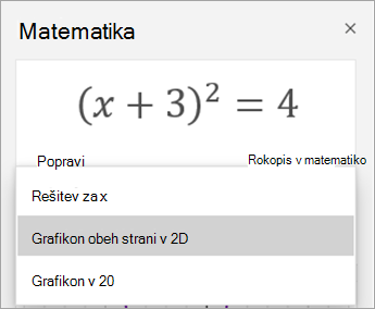 Možnosti grafa v podoknu» matematika «