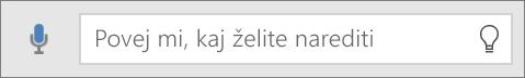 Prikaže iskalno polje »Pokaži mi« v sistemu Office Mobile