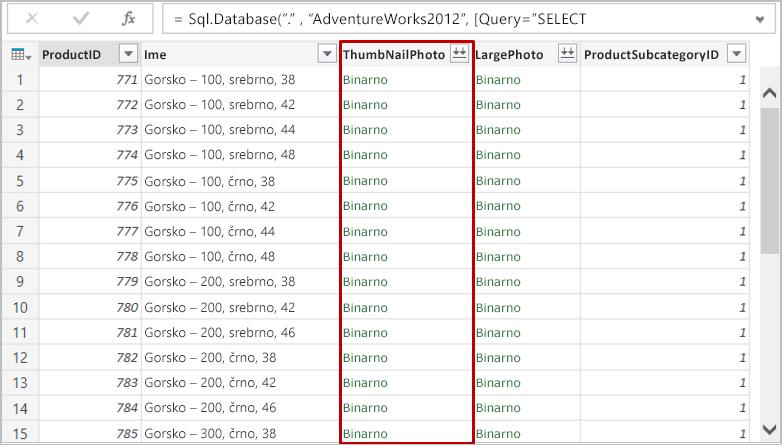 Zbirka podatkov SQL