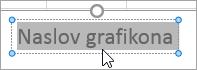 Izbiranje besedila naslova grafikona