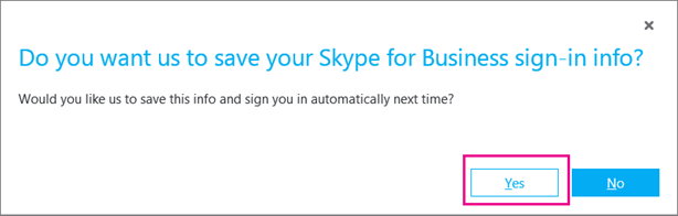 Izberite »Da«, če želite shraniti svoje geslo, da se boste lahko naslednjič samodejno prijavili.
