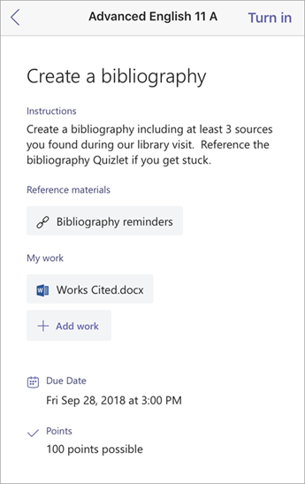 Ustvarjanje bibliografije okna