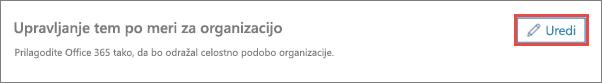 Tapnite ali kliknite »Uredi«, da spremenite temo
