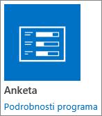 Ikona aplikacije »Anketa«, ki je vključena v SharePoint