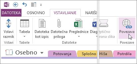 V opombe lahko dodate povezave, tako da preprosto kliknete spletni naslov in obiščete ustrezno spletno mesto.