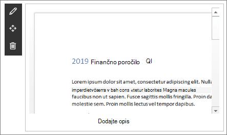 Spletni gradnik pregledovalnika datotek v vzorčnem sodobnem mestu pristanka podjetja v storitvi SharePoint online