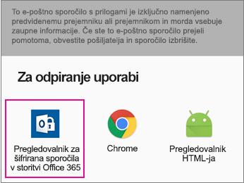 Pregledovalnik OME s storitvijo Gmail s sistemom Android 2