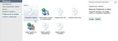 Pogovorno okno »Več spletnih gradnikov«