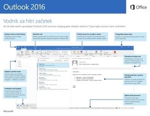 Vodnik za hitri začetek za Outlook 2016 (Windows)