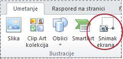 """Dugme """"Snimak ekrana"""""""