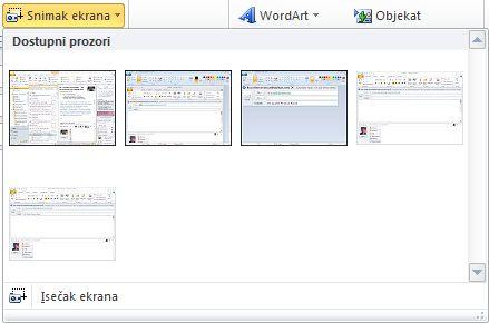 """Komanda """"Umetni snimak ekrana"""""""