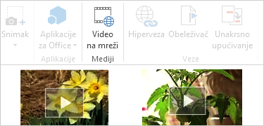 Video zapis na mreži u Word dokumentu