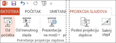 Pokretanje prezentacije od početka