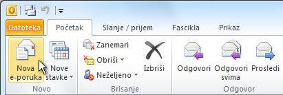 """Komanda """"Nova e-poruka"""" na traci"""