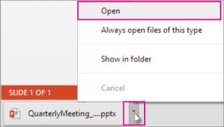 Otvorite datoteku koja je sačuvana lokalno