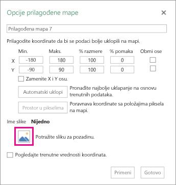 """Dijalog """"Opcije prilagođene mape"""""""