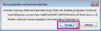 pretplata na internet kalendare
