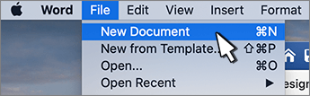 "Opcija ""novi dokument"""