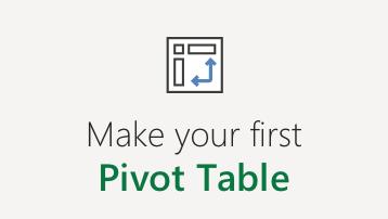 Umetanje izvedene tabele u programu Excel za Veb
