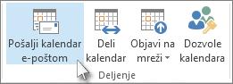 Pošalji kalendar e-poštom