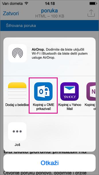 Moj prikaz za Outlook za iOS 3